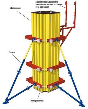 Cтойки телескопические для опалубки