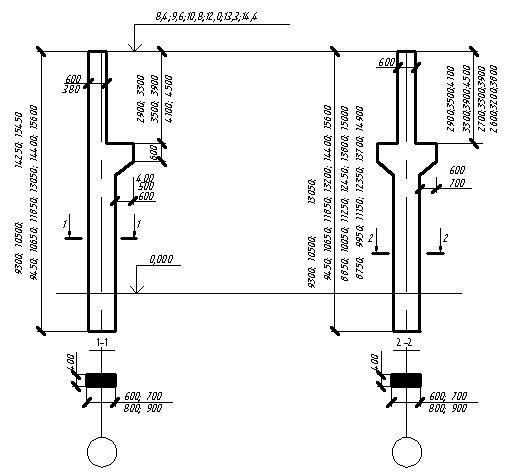 Разрез железобетонной колонны железобетонные конструкции абакан